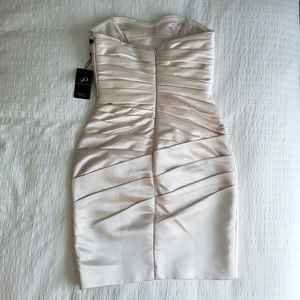 Adrianna Papell Dresses - NWT Adrianna Papell Cocktail Strapless Satin Dress
